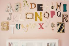 2015/12 - Blog - New Arrivals, Inc. Letter Collage, Letter B, Letter Wall, Wooden Wall Letters, Nursery Letters, Nursery Room, Room Inspiration, Kids Room, Room Ideas