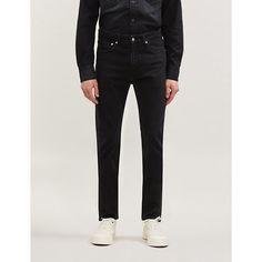 Ck Jeans 016 Slim-fit Skinny Jeans In Great Plains Black Ck Jeans, Denim Jeans, Skinny Jeans, Slogan Tee, Plain Black, Stretch Denim, Tees, Shirts, Calvin Klein
