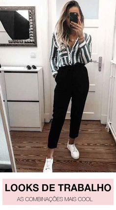 The Best Collection of Womens business casual outfit ideas to wear all season. Work business casual fashion ideas for professional women. Classic Work Outfits, Summer Work Outfits, Modern Outfits, Office Outfits, Cool Outfits, Office Attire, Office Wear, Sporty Outfits, Spring Outfits