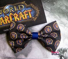 WoW Alliance Hair bow / Bow tie World of Warcraft by FangirlyStorm, $6.75