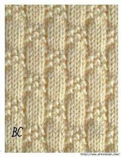 knit and purl stitch patterns Baby Knitting Patterns, Knitting Stiches, Knitting Charts, Knitting Designs, Loom Knitting, Stitch Patterns, Crochet Patterns, Purl Stitch, How To Purl Knit