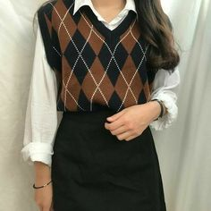 Adrette Outfits, Retro Outfits, Cute Casual Outfits, Vintage Outfits, Fashion Outfits, Fashion Vintage, Korean Girl Fashion, Look Fashion, Trendy Fashion