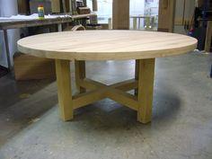 Ronde eettafel op maat | Stel zelf jouw ideale houten tafel samen