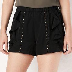 Lauren Conrad Women's Ruffle Stud Soft Shorts