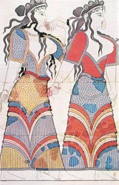 greek woman fresco ancient - Google Search