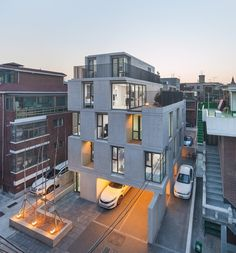 [BY house cultural history] [return increase commercial housing design - multi-family housing, align the sensual eye level of 001 Seoul residents . Modern Architecture House, Architecture Design, Chinese Architecture, Futuristic Architecture, Modern Houses, Building Design, Building A House, Modern Townhouse, Facade House