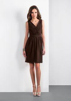 Brown bridesmaid dress. Jasmine P166055K