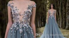 2017 Paolo Sebastian Lace Prom Dresses Sheer Plunging Neckline Appliqued Party Gowns Sweep Train Tulle Beads Evening Wear For Women Dress Plus Size Evening Dress Plus Size Evening Dresses Uk From Standbymebride, $127.05| Dhgate.Com