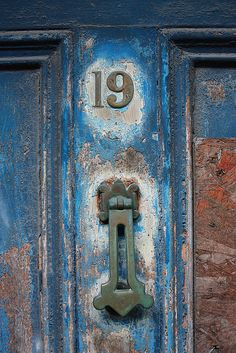 isis0isis:Old Door on Forster Street, Galway. Number 19 by Colm Mullen on Flickr.