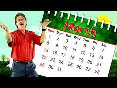 This March calendar song teaches about the month of March. Sing along and learn that March is the month of the year. Learn how to spell March. March has . Calendar Songs, Calendar Time, Kids Calendar, Music For Kids, Kids Songs, Jack Hartmann, March Month, Christian Cards, Printable Calendar Template