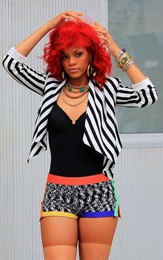 Rihanna: What's My Name Missoni Shorts