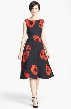 Tracy Reese Embellished Floral Print Snake Jacquard Frock available at #Nordstrom