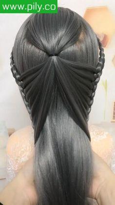 Hairdo For Long Hair, Long Hair Video, Easy Hairstyles For Long Hair, Headband Hairstyles, Braided Hairstyles, Cute Simple Hairstyles, Hair Streaks, Hair Highlights, Hair Style Vedio