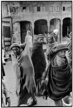 © Henri Cartier-Bresson/Magnum Photos // PAKISTAN. Swat State. Village of Saiu Sharif. 1948. Main street of the bazaar.