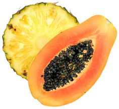 Pineapple and Papaya  Good for: Muscle recovery    Both of these tropical fruits are loaded with bromelain and papain, enzymes that not only help break down proteins for digestion but also have anti-inflammatory properties to speed up your post-workout recovery.
