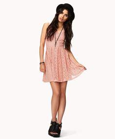 Floral Lace Dress w/ Belt   FOREVER 21 - 2042997025