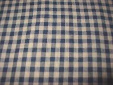 1 3/4 yds Navy & Beige Homespun Plaid 100% cotton sewing Rag quilting---*
