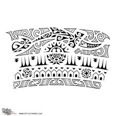 34 Best Polynesian Armband Tattoos Tribal Stencil Images