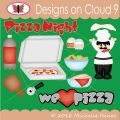Designs on Cloud 9 Pizza Night SVG and cutting files