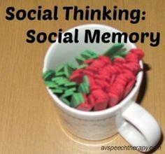 Teaching Social Thinking & Social Memory #Socialskills #Aspergers #asd #PDD #autism #slpeeps #slpbloggers
