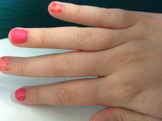 Zalm oranje met roze stippen - roze
