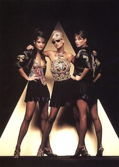 One of my favorite 90s ads.  Loved Versace and hung this up on my wall!  Helena, Linda, and Christy by Herb Ritts.