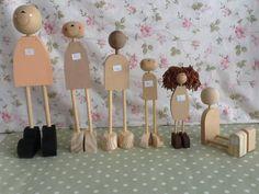 kits de madeira para bonecas P M G | Bonecas  Le Poème | 302F2C - Elo7