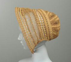 Bonnet  American, mid-19th century  USA  DIMENSIONS  70 cm (27 9/16 in.)  MEDIUM OR TECHNIQUE  Woven straw