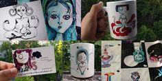 Ilustraciones lindas para regalar(te) Resumen de este mes en una imagen. Ilustraciones desde 15€ http://universoburbujashop.es/ #Aliciaenelpaisdelasmaravillas #ilustracion #alice