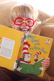 Dr. Seuss' 'I Can Read with My Eyes Shut' make glasses to read our favortite books