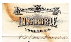 THE EPHEMERA OF BUSINESS: Invincible Thresher - Three Rivers WI