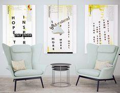 Design Manifesto, Triptych, New Work, Typography, Behance, Gallery, Check, Furniture, Home Decor