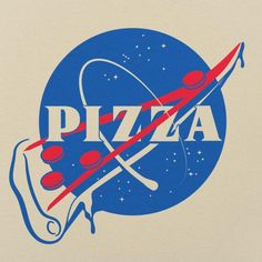 pizza pizza design NASA Pizza Slice T-Shirt (Ladi Funny Science Shirts, Funny Tshirts, Pizza Kunst, Pizza Art, Pizza Pizza, Animes Wallpapers, Milky Way, Logos, Iphone Wallpaper