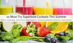 Superfood Cocktails You'll Love Sipping On This Summer Berry Sangria, Blueberry Mojito, Welcome Drink, Summer Berries, Refreshing Cocktails, Good Spirits, Healthy Summer, Superfood