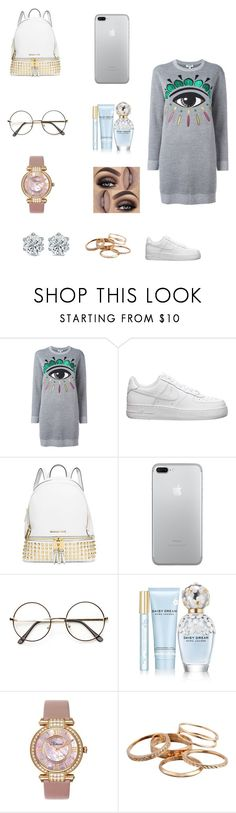 """Night "" by dajahknox ❤ liked on Polyvore featuring Kenzo, NIKE, MICHAEL Michael Kors, Marc Jacobs, Chopard and Kendra Scott"