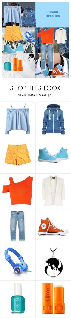 """Hikaru Hitachiin - Ouran"" by animedowntherunway ❤ liked on Polyvore featuring Sandy Liang, Lafayette 148 New York, Burnetie, River Island, Jolie Moi, MANGO, Converse, Essie, Fresh and nerd"