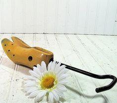 Vintage Wood & Cast Iron Adjustable Shoe Tree Form by DivineOrders, $18.00
