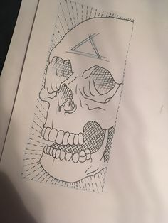Skull drawing tattoo