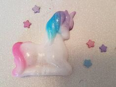 Believe in Magic Pink and Blue Bubble Gum Unicorn Soap with
