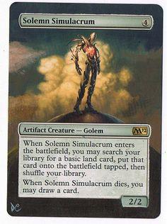 MTG Altered Painted Solemn Simulacrum M12 #WizardsoftheCoast