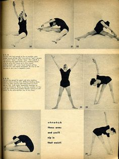 Exercise is a Ball! 1950s ladies fitness routine