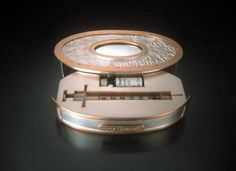 Jill Baker Gower -  Botox Injection Compact, sterling silver; brass; syringe; vial, 2006 (open)