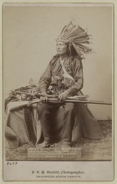 Little, Oglala band leader, 12/28/1890, photographed prior to the Wounded Knee Massacre on 12/29/1890