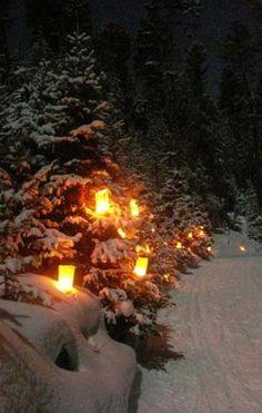 Christmas Luminaria Tour | Red River, New Mexico