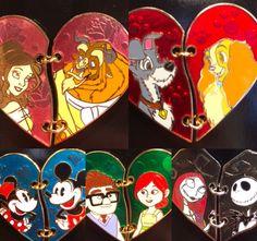 Stitched Heart Disney Pins!