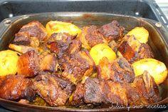 Meat Recipes, Mexican Food Recipes, Carne Asada, Spanish Food, Omelette, Empanadas, Flan, Pork, Favorite Recipes