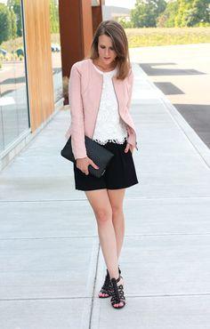 Jennifer Lopez shorts   pink jacket : Happy Hour - Penny Pincher Fashion