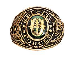 Deluxe Military Rings - Army, Navy, Sp. Forces, Marines USMC U.S. Made All Sizes