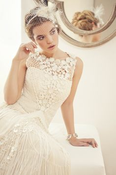 Cute vintage style! #weddingdress #weddinggown #vintageweddingdress