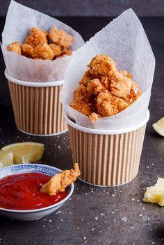 Crispy chicken nuggets. simply-delicious-food.com